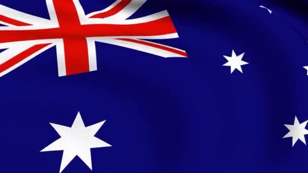 Flying Flag of Australia  LOOPED