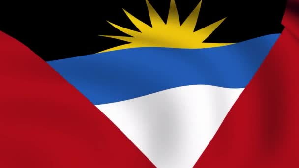 Flying Flag of Antigua and Barbuda LOOPED