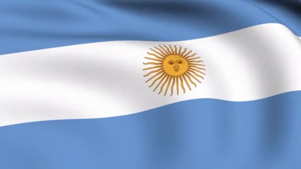 Flying Flag of Argentina  LOOPED