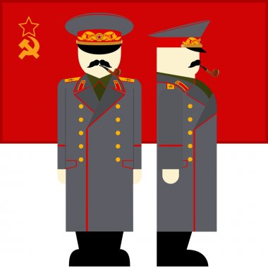Stalin and the Soviet Union flag