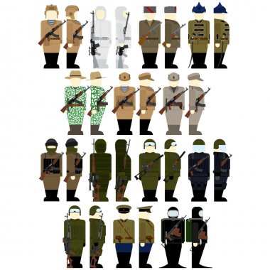 Uniforms soldiers of Russian special services