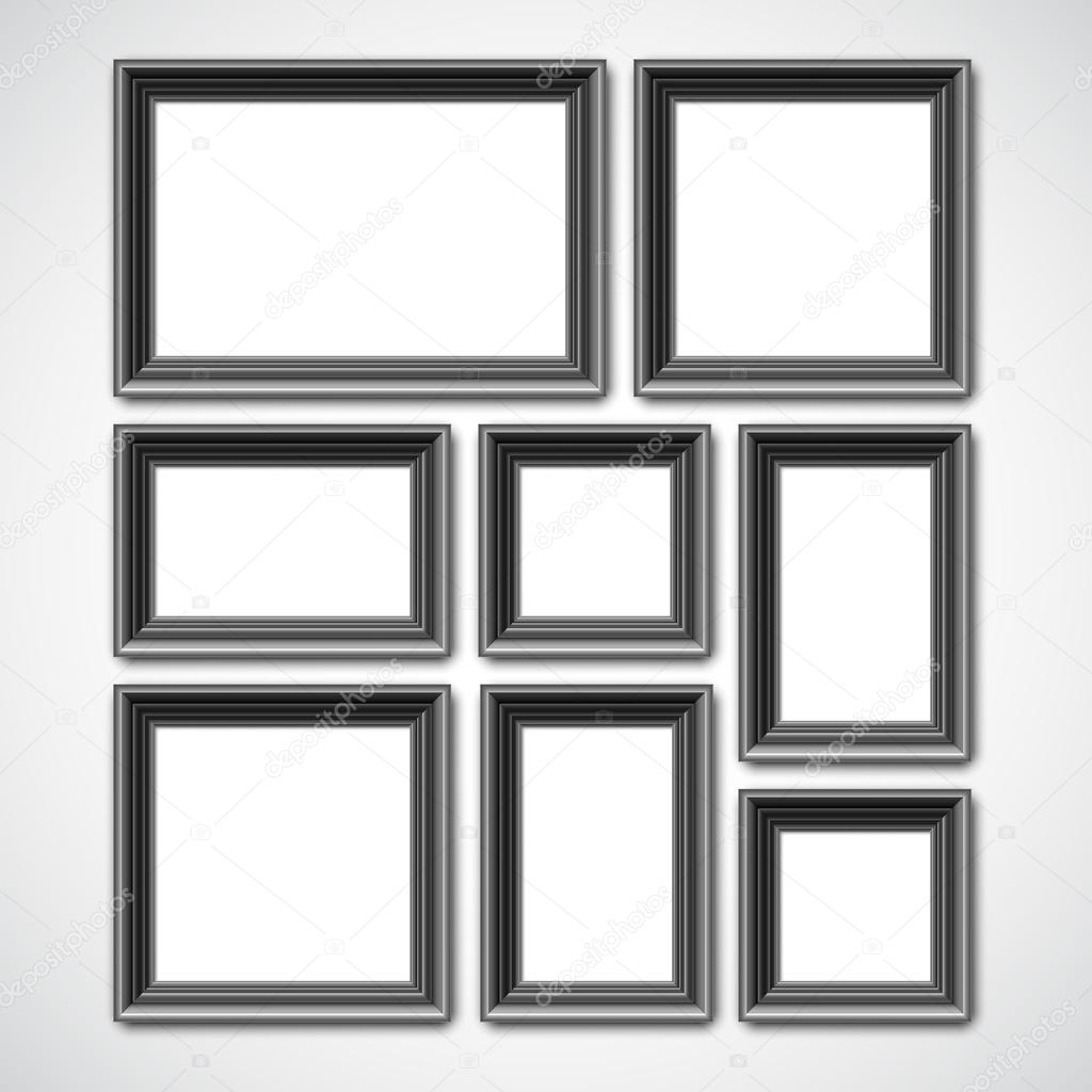 Picture Frames Collage — Stock Vector © timurock #110624638