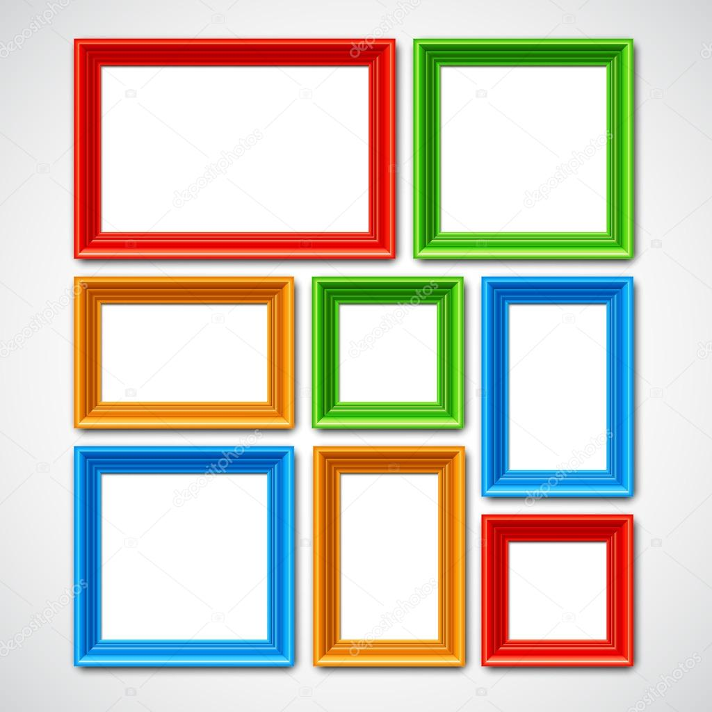 Picture Frames Collage — Stock Vector © timurock #111393798