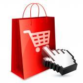 Online vásárlási koncepció.