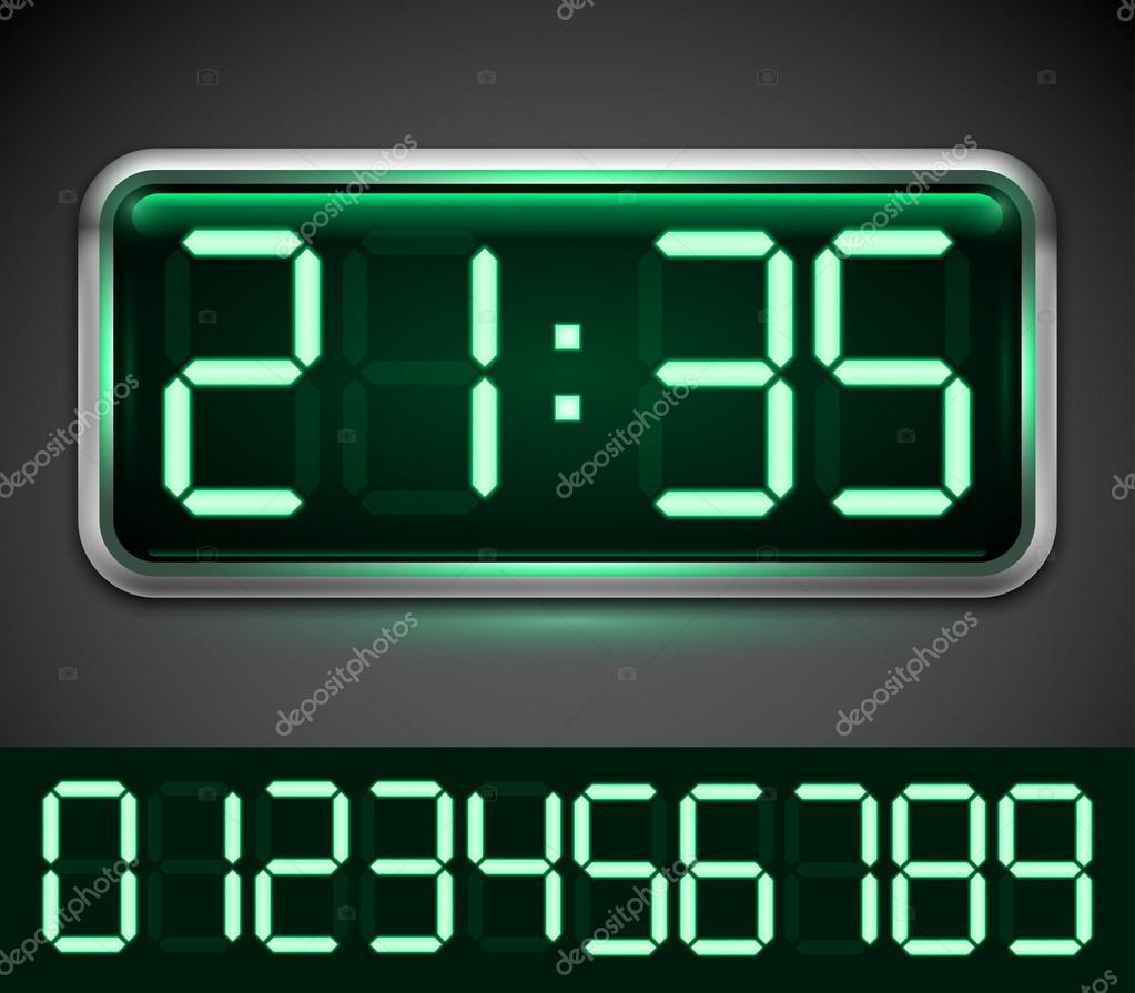 klocka med lysande siffror