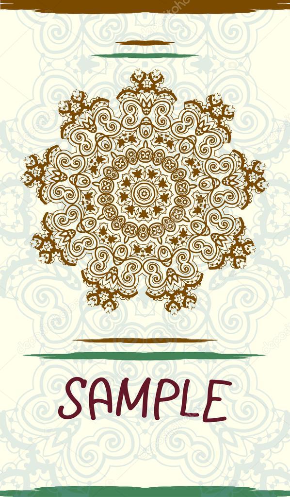 vertical design wedding invitation card based on traditional