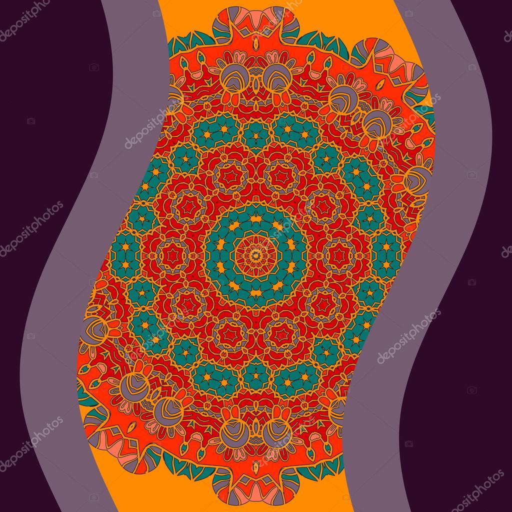 Illustration for cover design og invitation, mandala based poster
