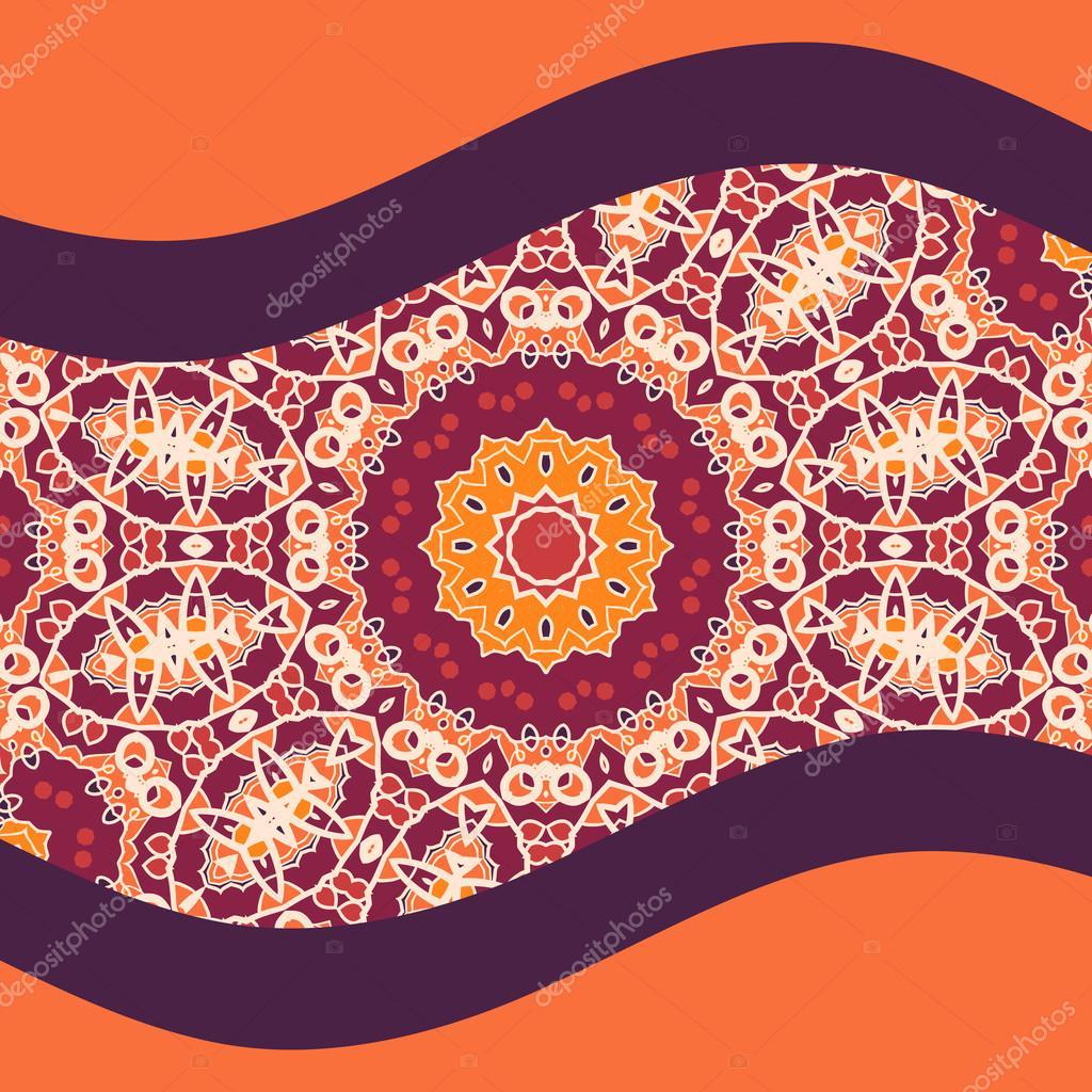 Mandala couverture impression Design couleur chaude — Image ...