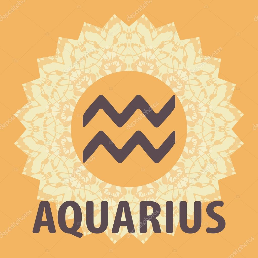 Aquarius water bearer zodiac icon with mandala print vector the water bearer zodiac icon with mandala print vector icon vector by mettus biocorpaavc Choice Image