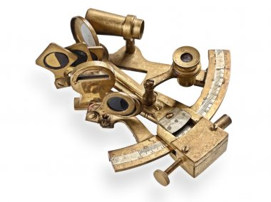 old bronze sextant