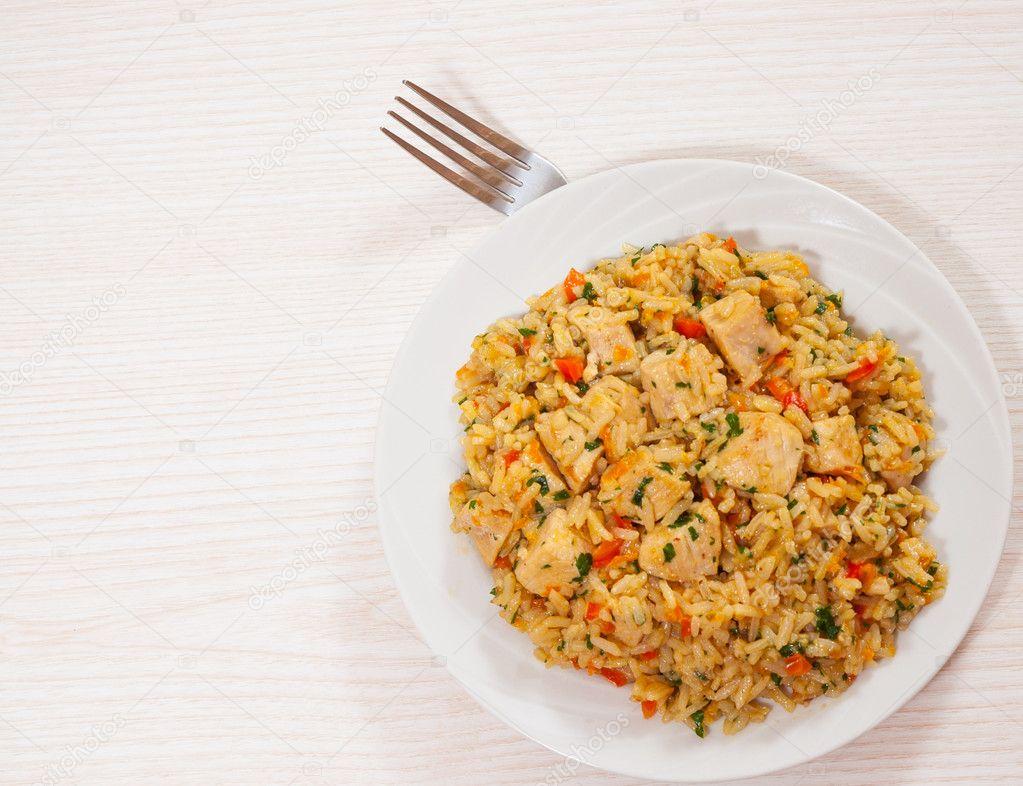 Рис с грудкой для похудения