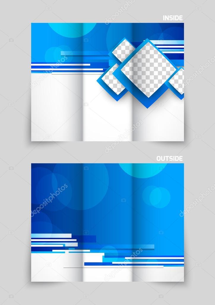 dise u00f1o de plantillas de folleto tr u00edptico  u2014 vector de stock