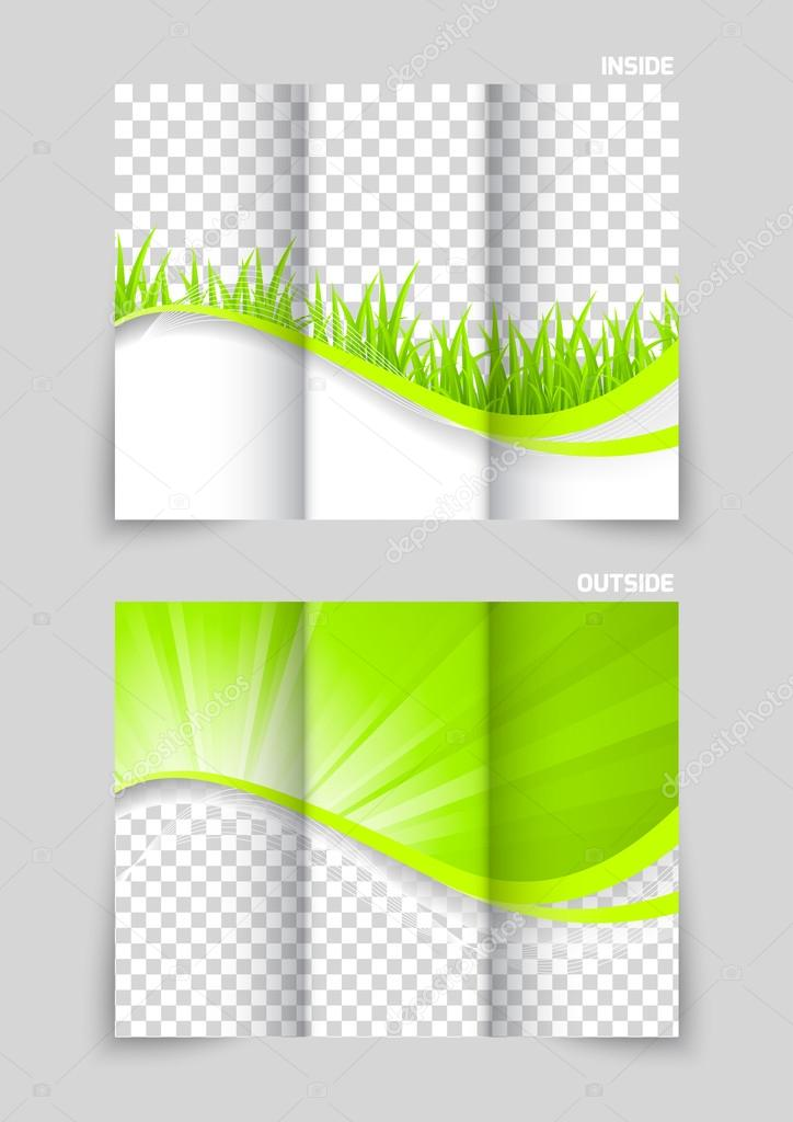 tri fold brochure template design stock vector denchik 54003745