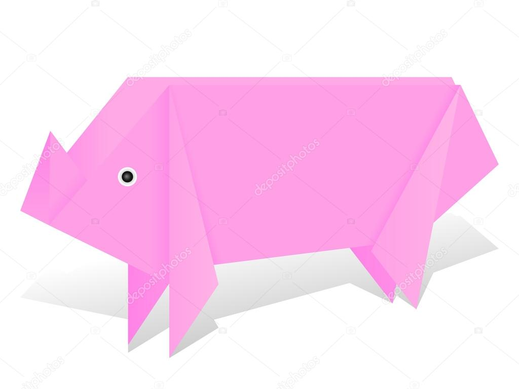 Origami pig on white stock vector julydfg 100803538 origami pig on white stock vector pooptronica