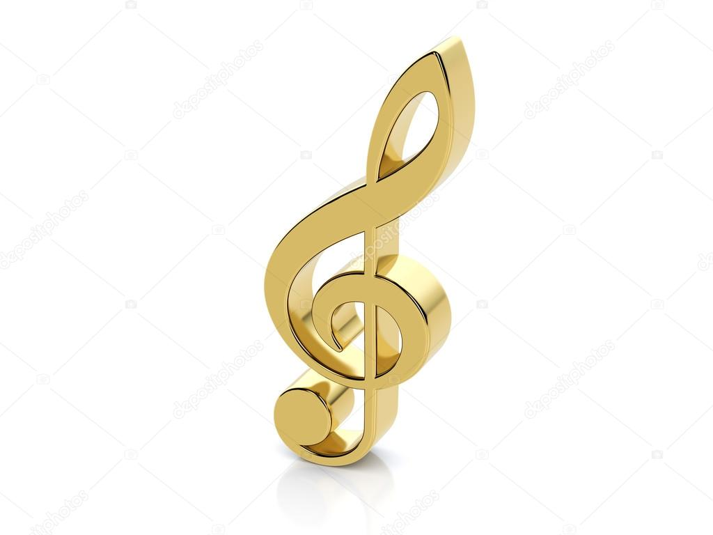 Símbolo De Nota Musical Oro