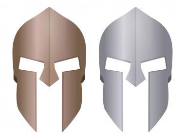 Spartan helmet on white