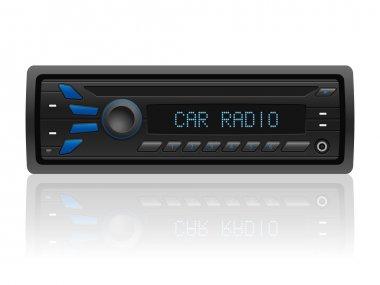 Car radio on white
