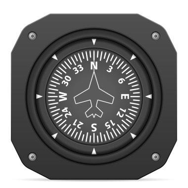 Flight instrument heading indicator
