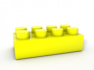 lego block yellow
