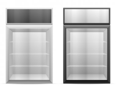 Display fridge on white