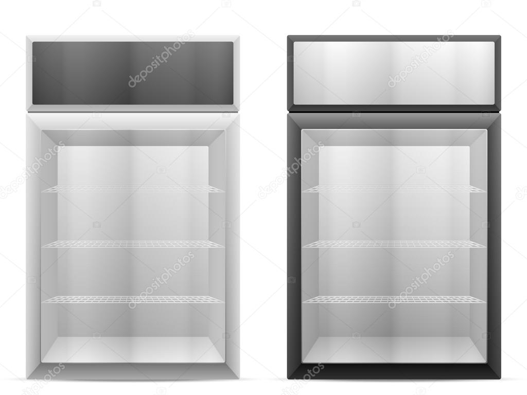 Display fridge on white
