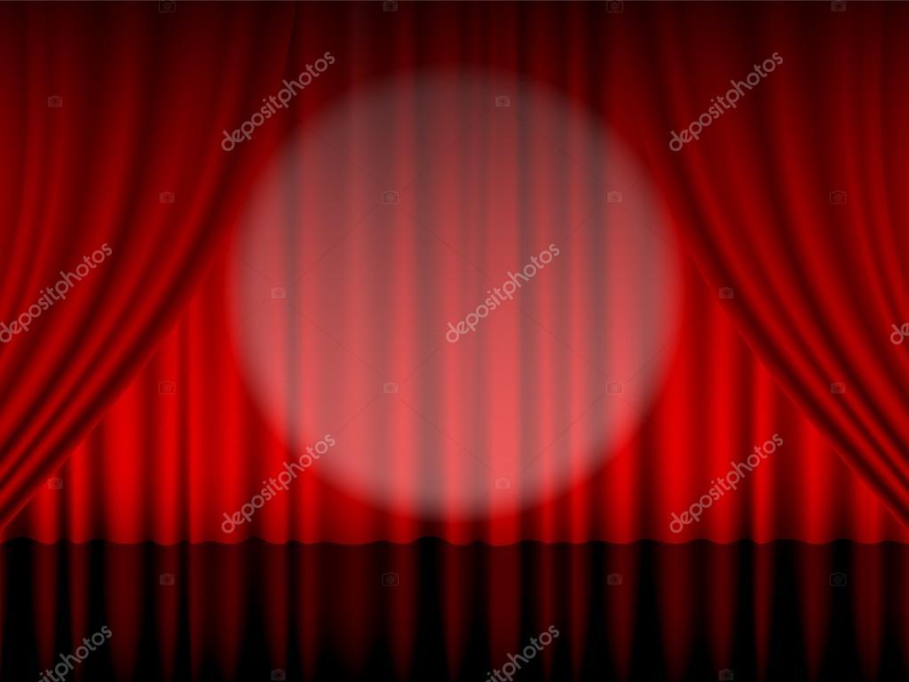 Theater gordijn rood — Stockvector © julydfg #90669640