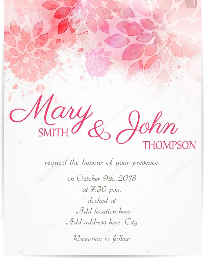 Wedding invitation template with abstract flowers stock vector wedding invitation template with abstract flowers stock vector stopboris Images
