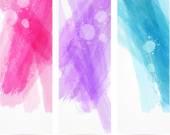 Aquarell gebürstet Linien Banner