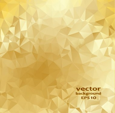 Gold crystal abstract pattern. Vector illustration.
