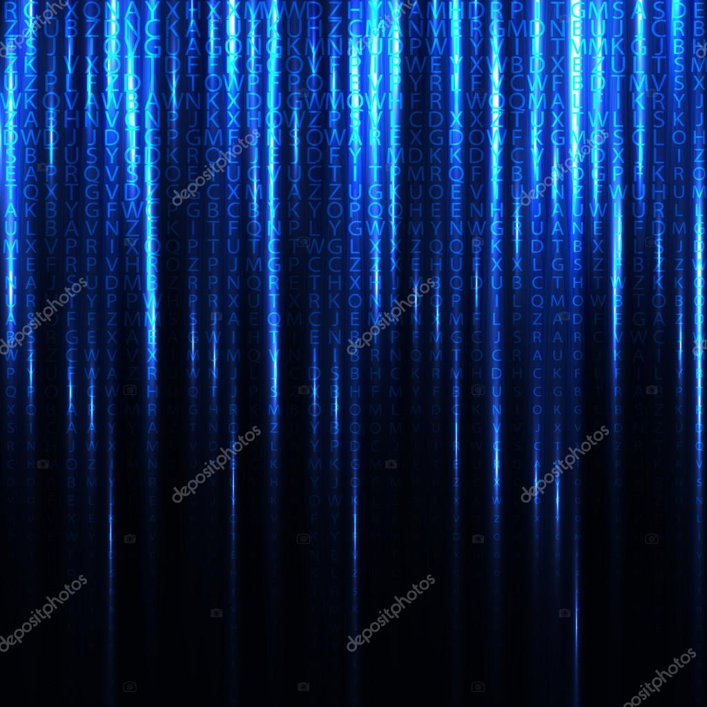 Abstract binary code background of Matrix style.