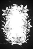 Háttér liliom virágok rajzokkal.