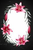 Háttér liliom virágok rajzokkal