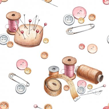 pattern with sewing tools