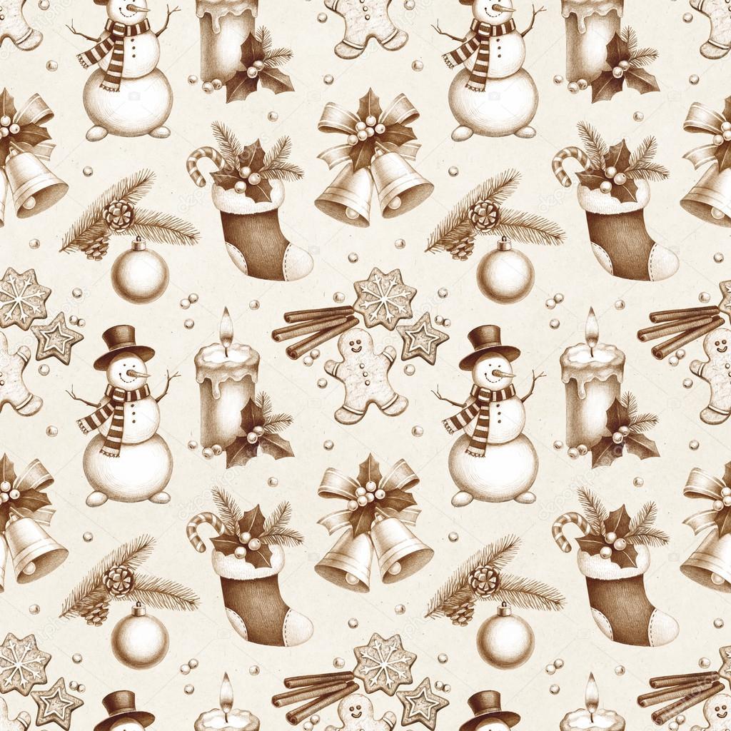 Dibujos: patron de navideños | Dibujos a lápiz de decoraciones ...