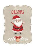 Fényképek Akvarell illusztráció, Santa Claus