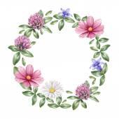 Fotografie Watercolor floral frame
