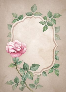 Background with watercolor flower.