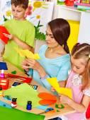 Fotografie Kinder mit Lehrer