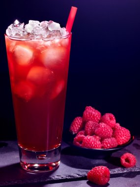 Red  raspberry cocktail
