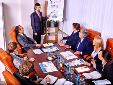 Group  of business people in office.