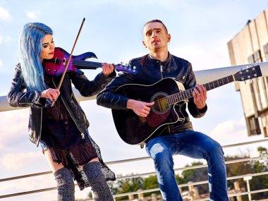 Music street performers