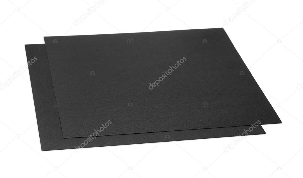 Two Sheets Of Black Craft Cardboard Stock Photo C Coprid 118525804
