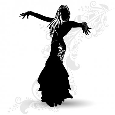 Silhouette belly dancer 1