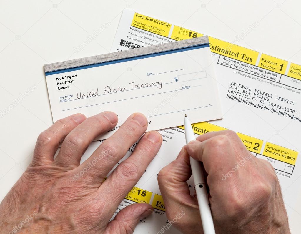 Us Irs Tax Form 1040 Es Stock Photo Steveheap 68196205