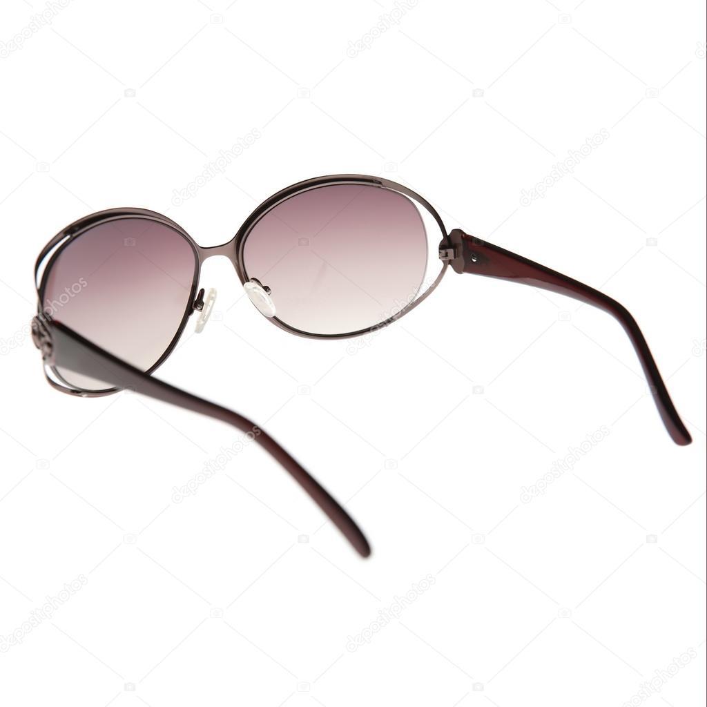 1270624e94 Μαύρα γυαλιά ηλίου που απομονώνονται σε λευκό φόντο — Φωτογραφία Αρχείου