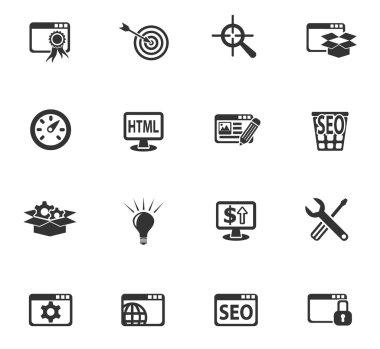 seo and development icon set