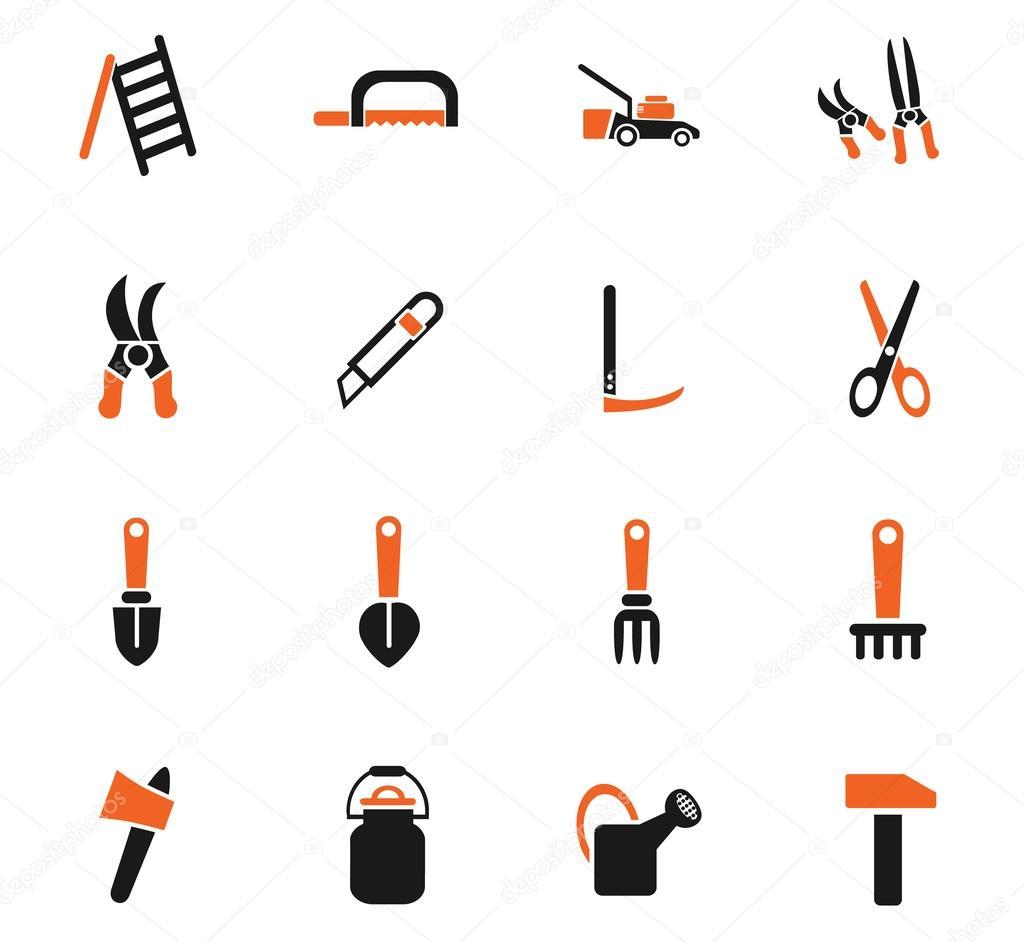 Outils de jardin jeu d\'icônes — Image vectorielle ayax55 ...