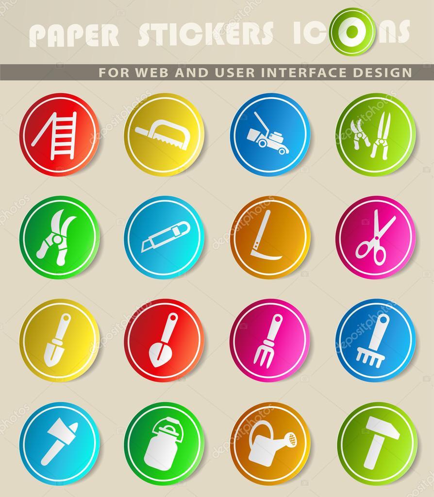 outils de jardin jeu d\'icônes — Image vectorielle ayax55 © #114328774