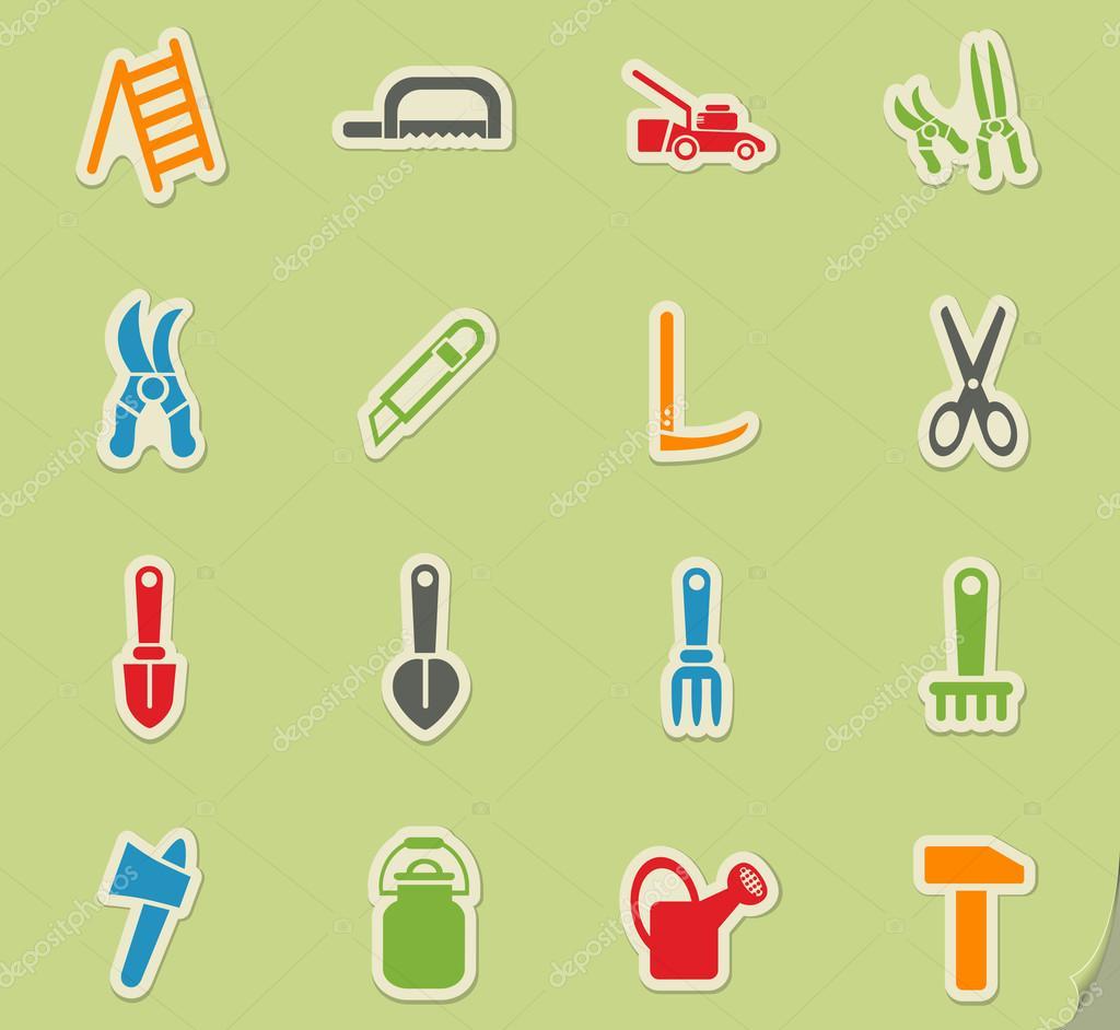 outils de jardin jeu d\'icônes — Image vectorielle ayax55 © #114704988
