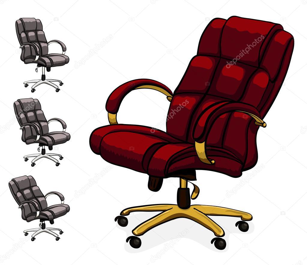 Bureau En Bureaustoel.Bureaustoel Van Het Bureau Executive Leder Stockvector C Ayax55